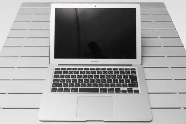 MacBook Air開いた所