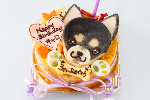 チワワの似顔絵誕生日ケーキ